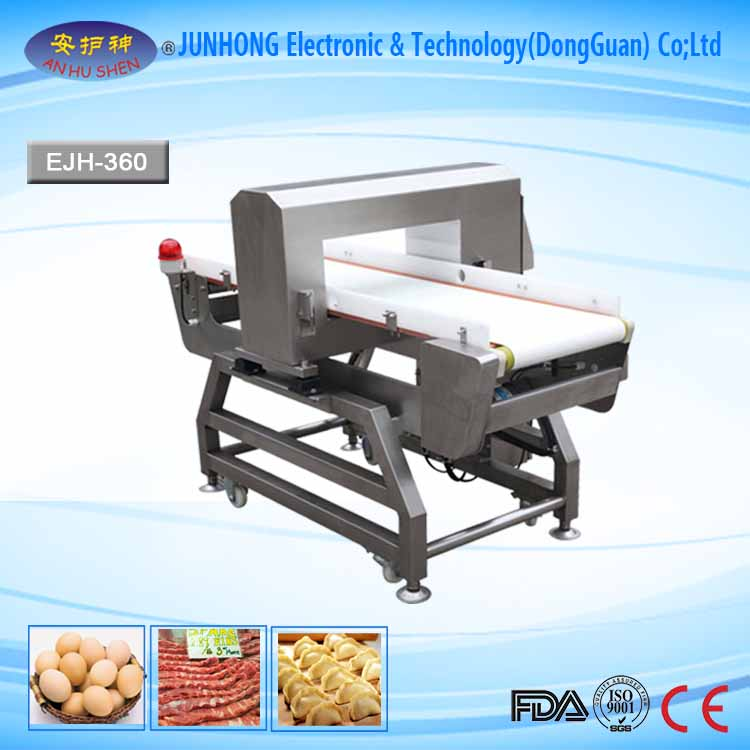 Snacks processing metal detector