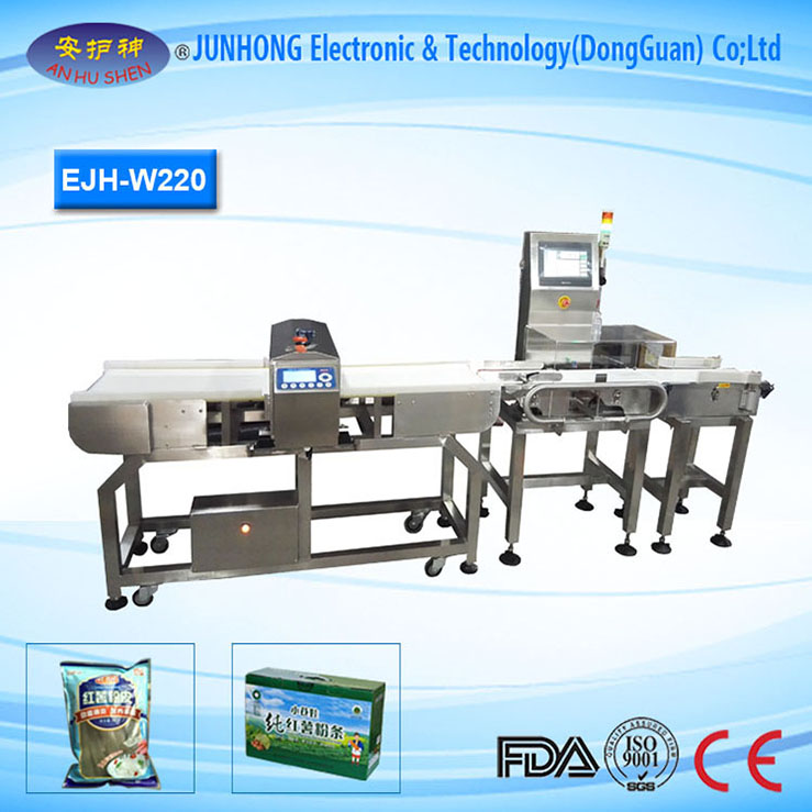Stable Performance Metal Detector With Check Weigher