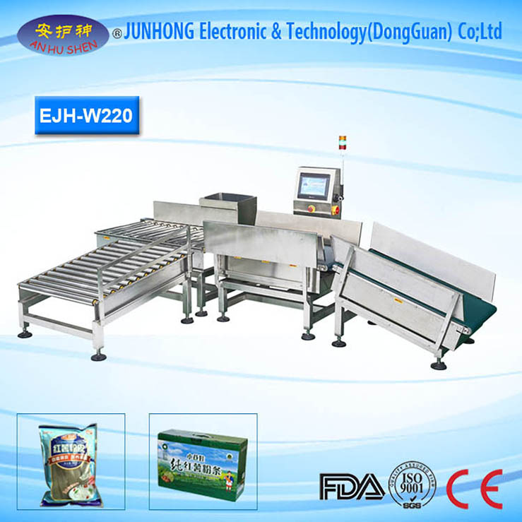 High Stability Snacks Check Weigher Machine