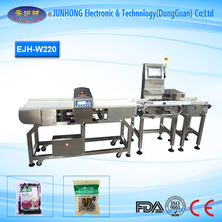 High Accuracy Snacks Weight Checking Machine
